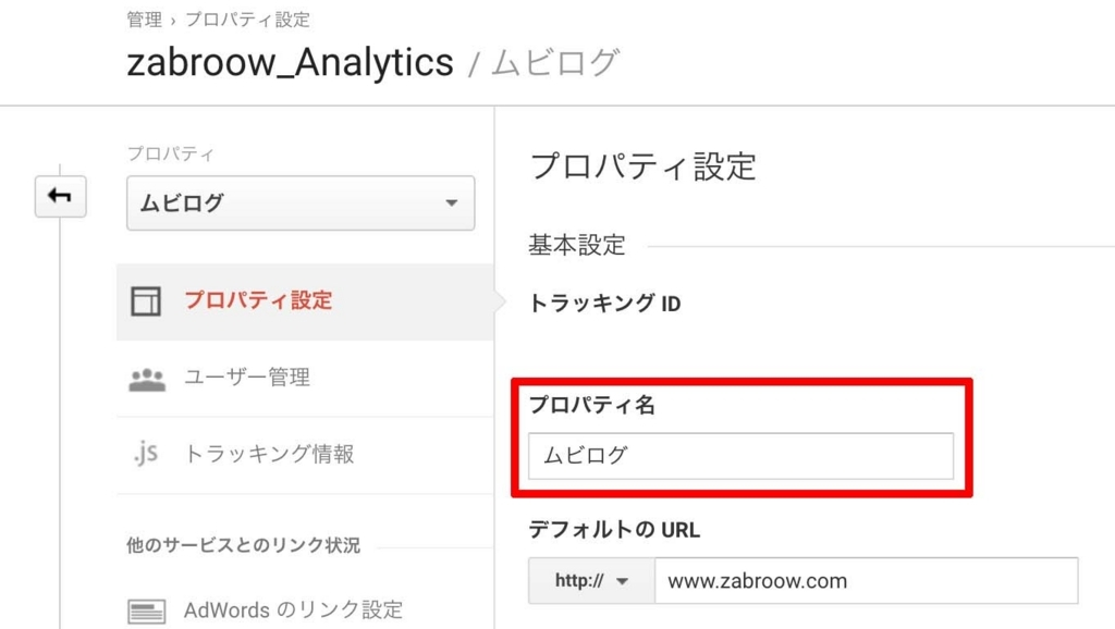 ムビログGoogle Analytics